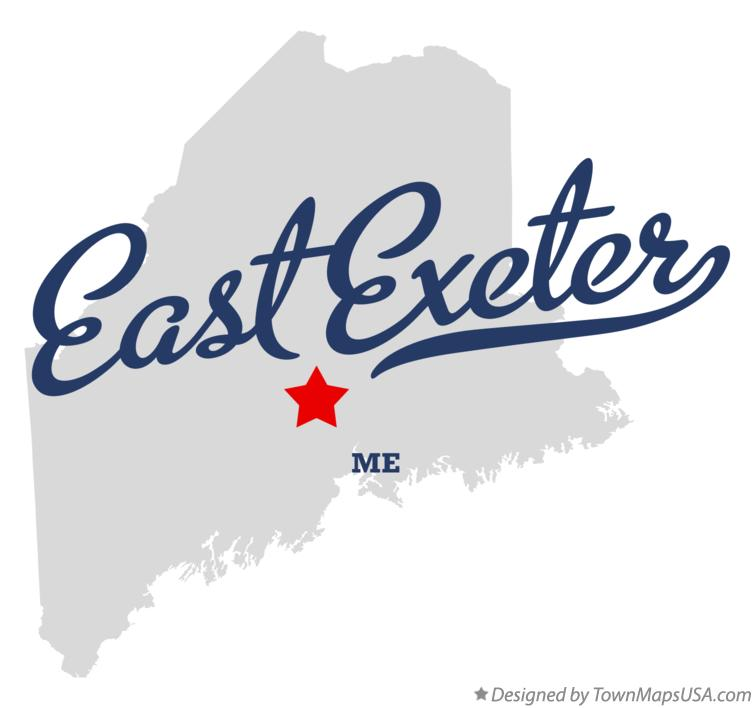 Map of East Exeter Maine ME