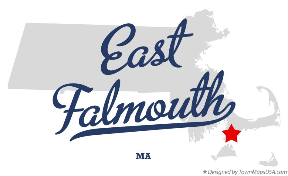 Map of East Falmouth Massachusetts MA