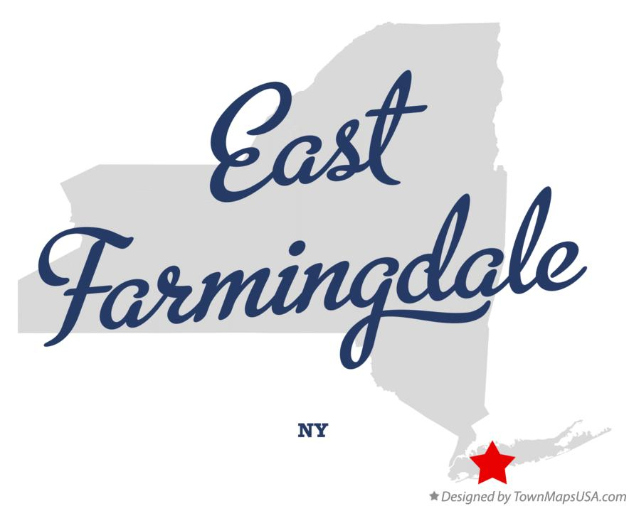 Map of East Farmingdale New York NY