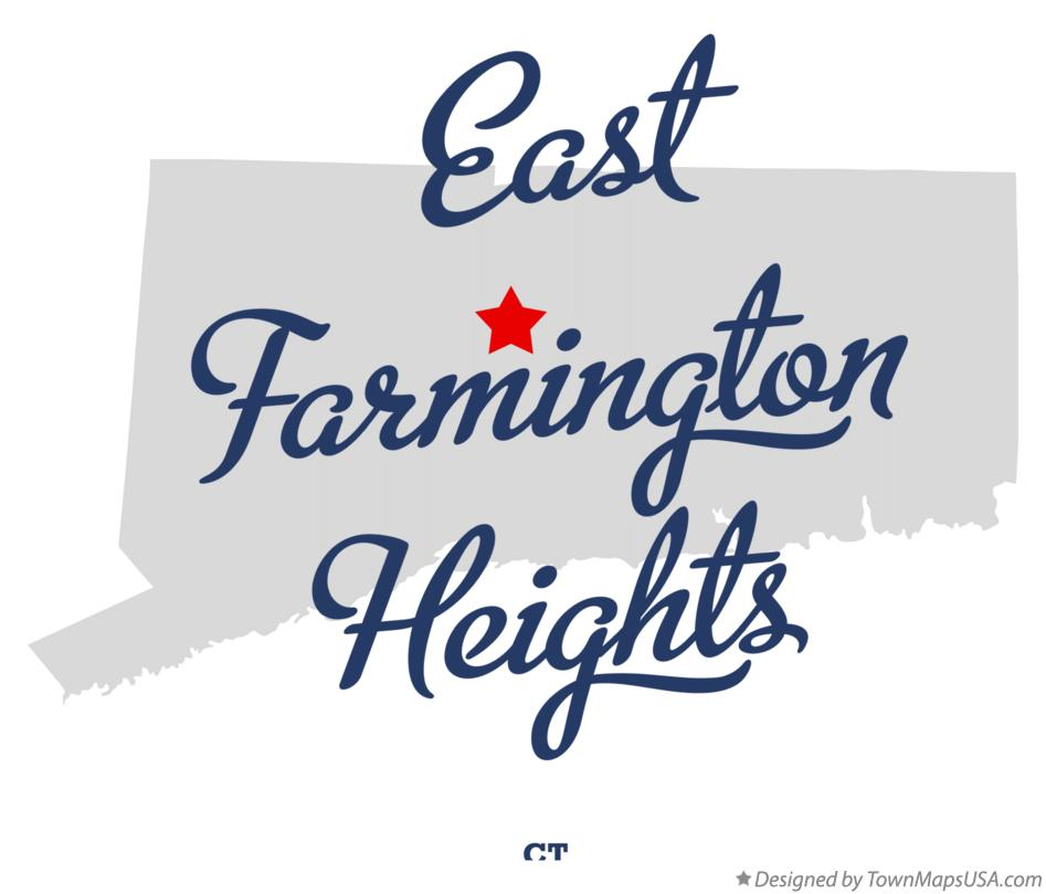 Map of East Farmington Heights Connecticut CT