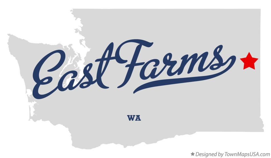 Map of East Farms Washington WA