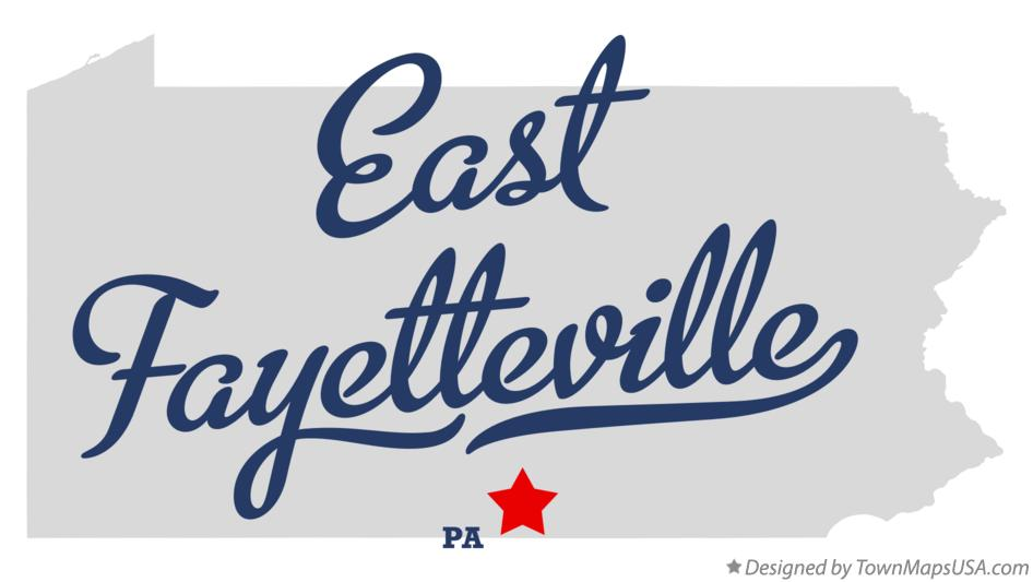 Map of East Fayetteville Pennsylvania PA