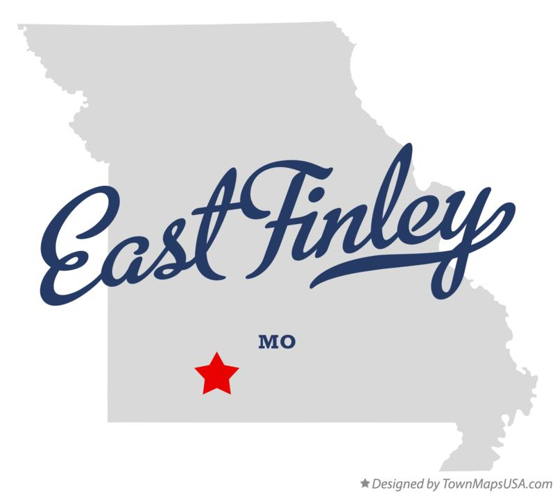 Map of East Finley Missouri MO
