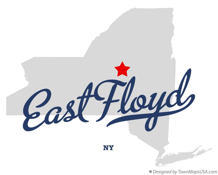 Map of East Floyd New York NY