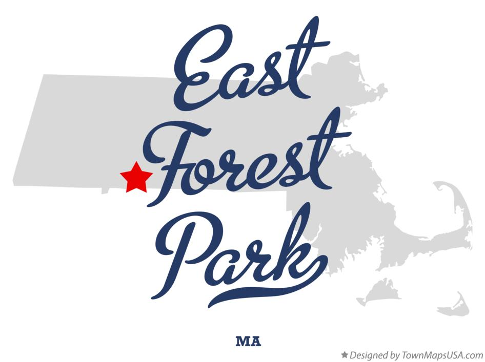 Map of East Forest Park Massachusetts MA
