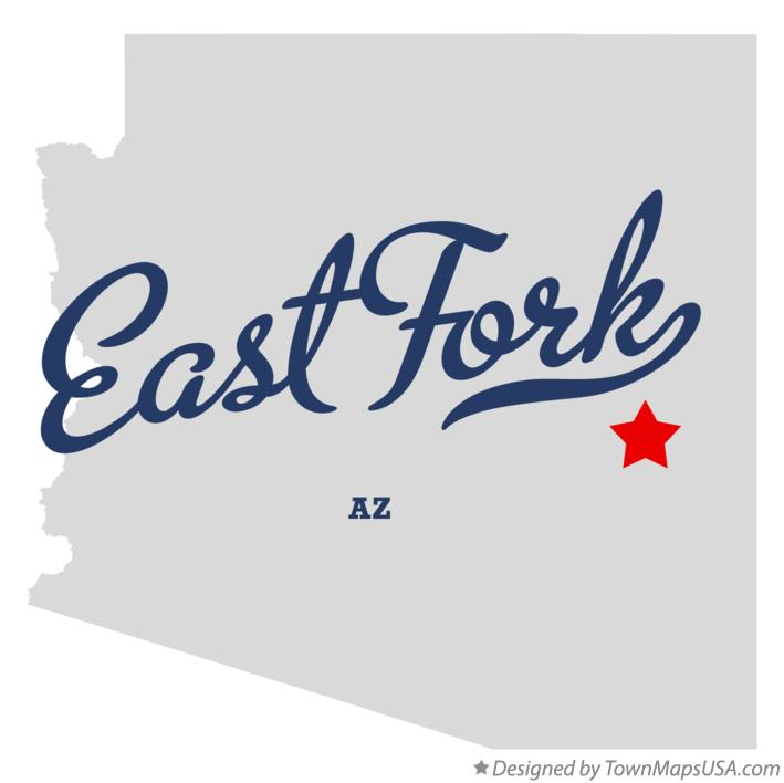 Map of East Fork Arizona AZ
