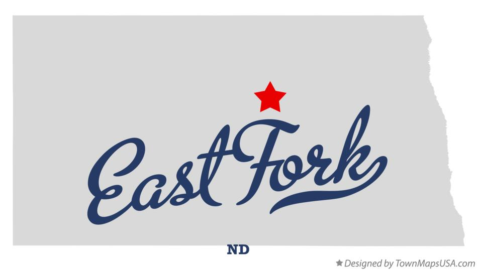 Map of East Fork North Dakota ND