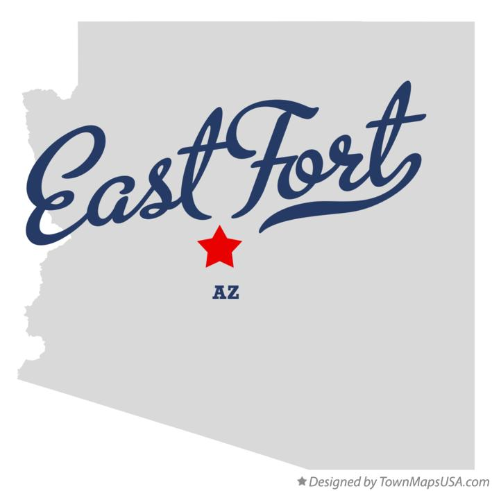 Map of East Fort Arizona AZ