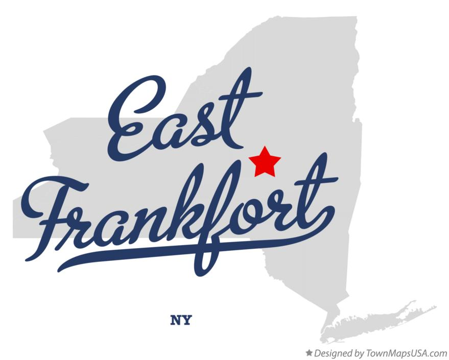 Map of East Frankfort New York NY
