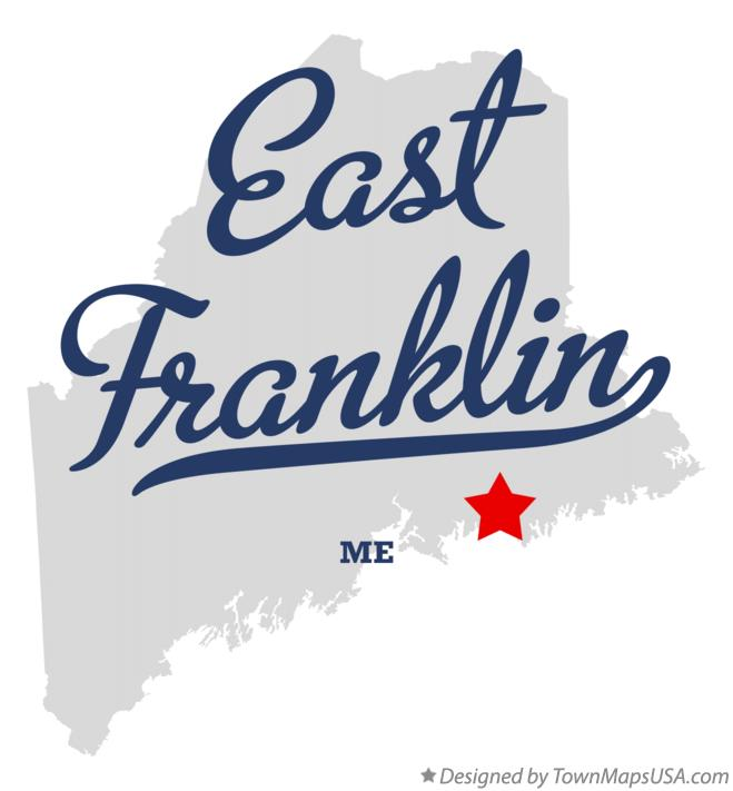 Map of East Franklin Maine ME