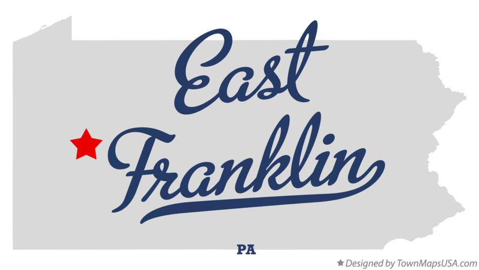 Map of East Franklin Pennsylvania PA