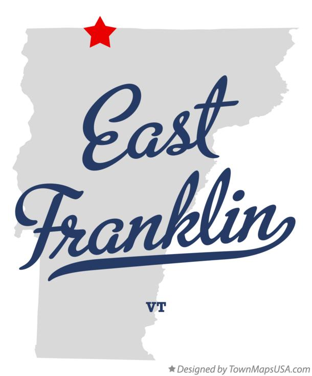 Map of East Franklin Vermont VT