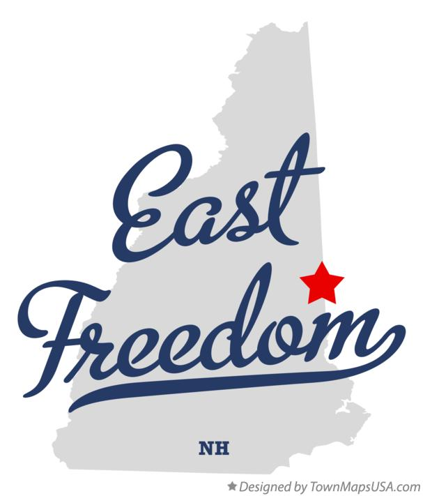 Map of East Freedom New Hampshire NH