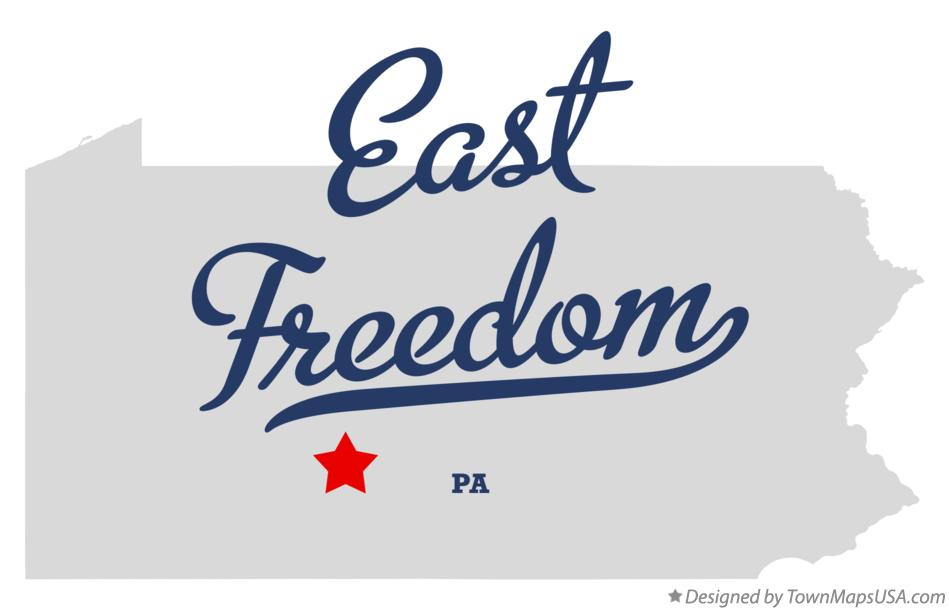 Map of East Freedom Pennsylvania PA