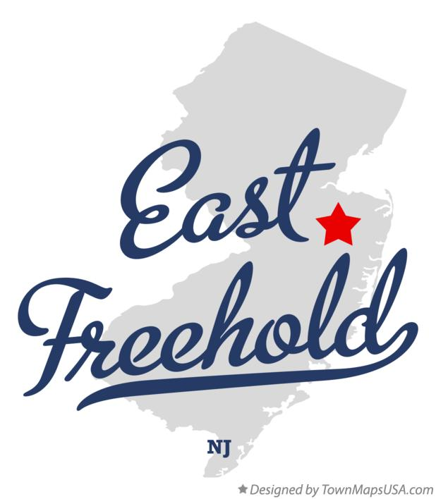 Map of East Freehold New Jersey NJ
