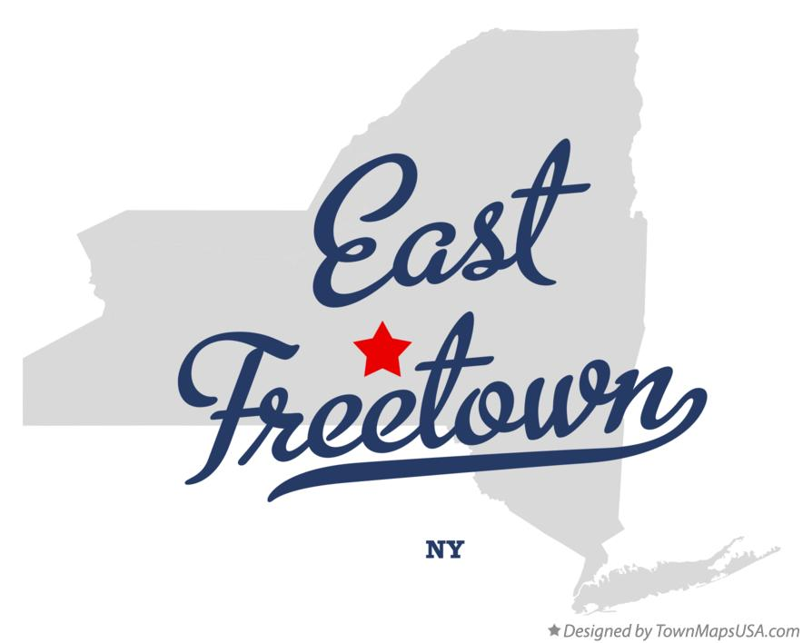 Map of East Freetown New York NY