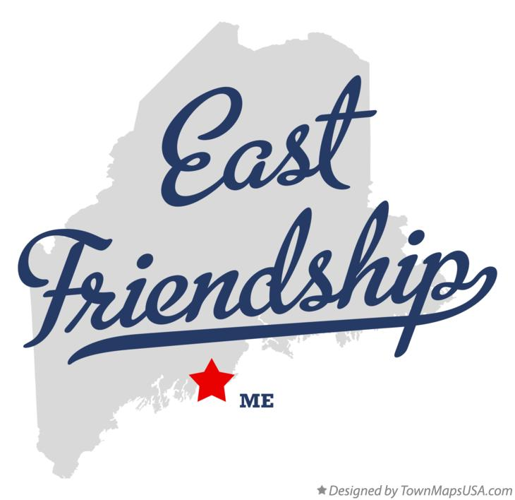 Map of East Friendship Maine ME