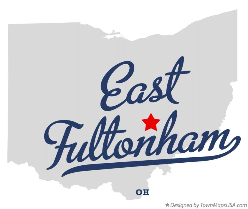 Map of East Fultonham Ohio OH