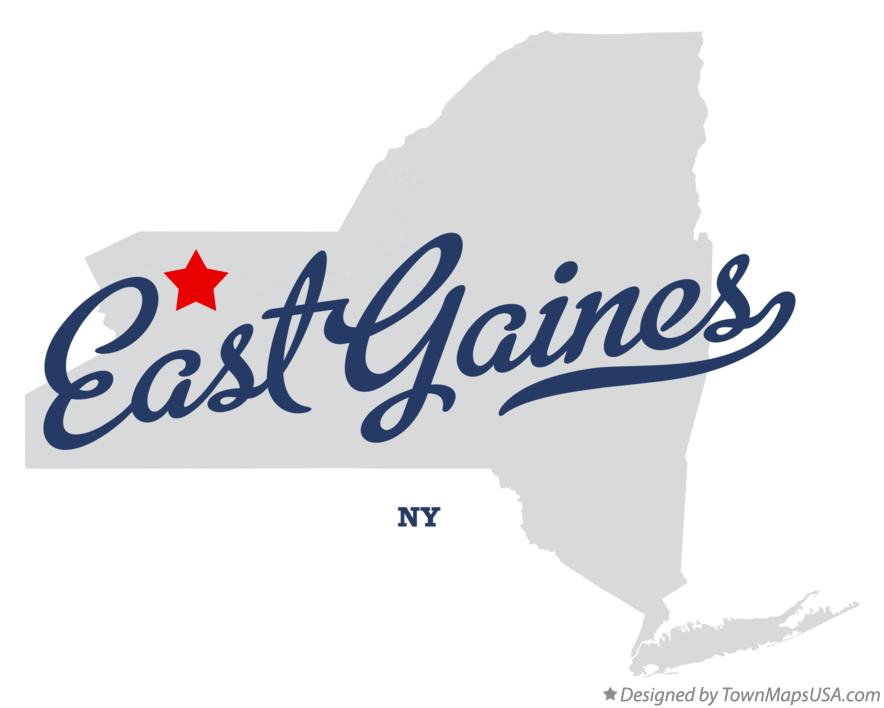Map of East Gaines New York NY