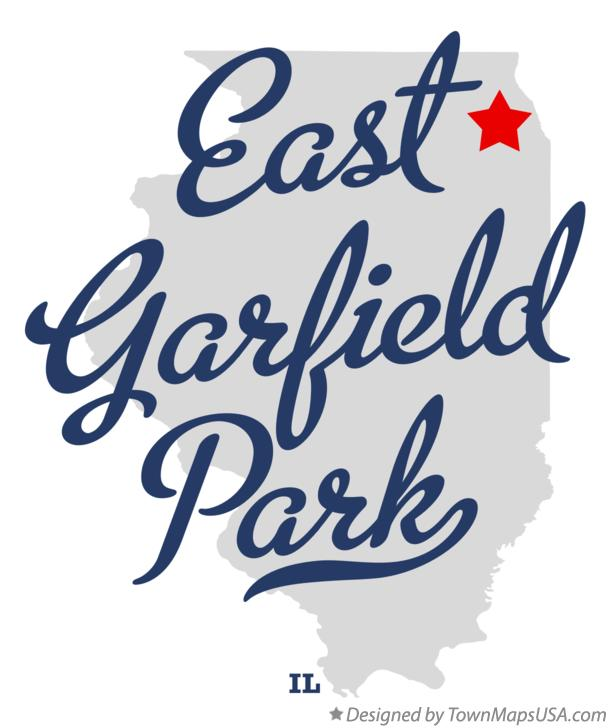 Map of East Garfield Park Illinois IL