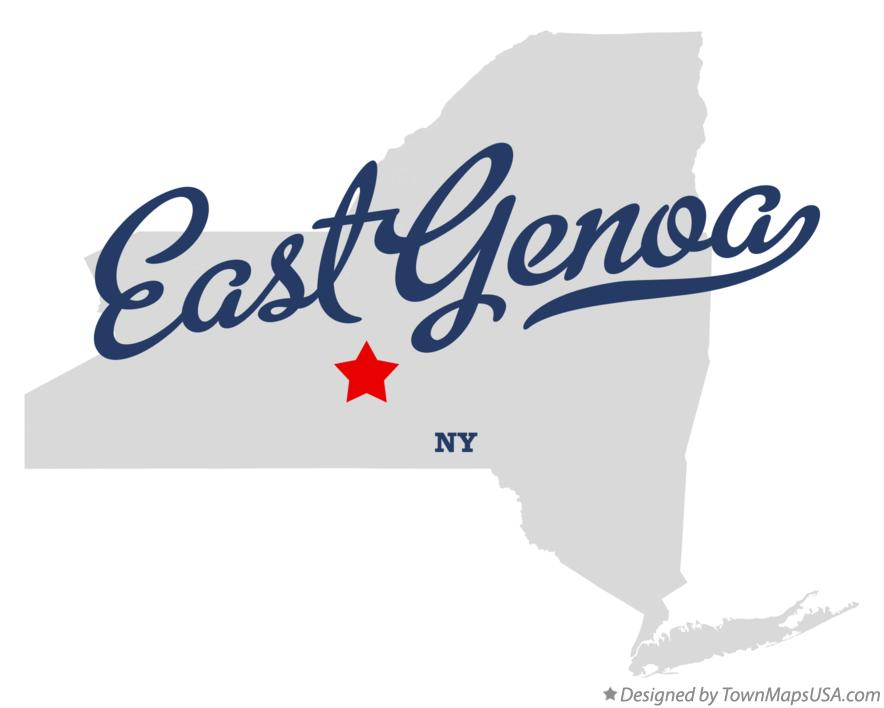Map of East Genoa New York NY