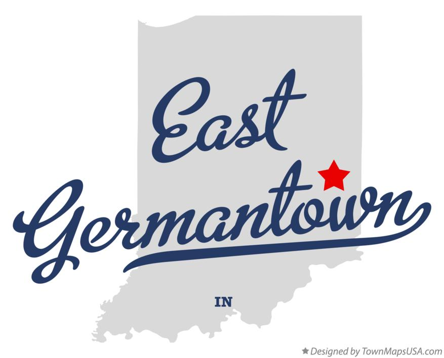 Map of East Germantown Indiana IN