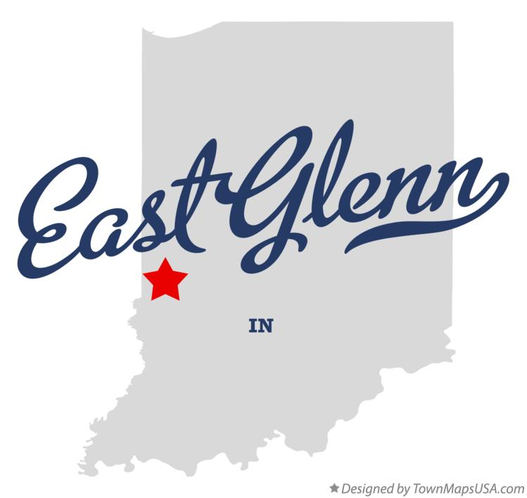 Map of East Glenn Indiana IN