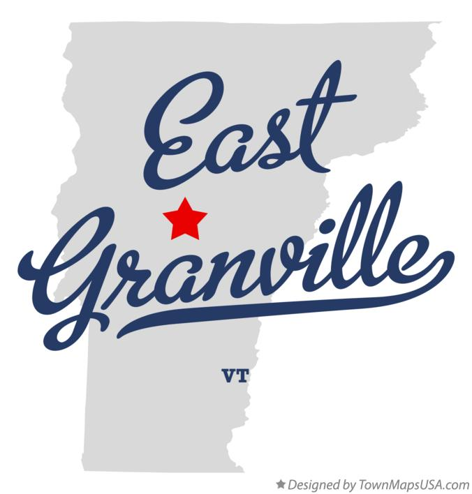 Map of East Granville Vermont VT