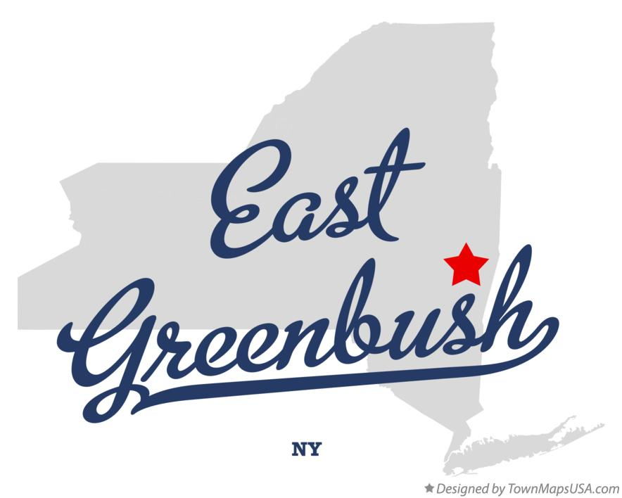 Map of East Greenbush New York NY