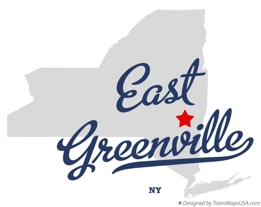 Map of East Greenville New York NY