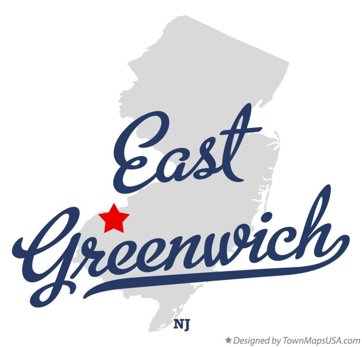 Map of East Greenwich New Jersey NJ