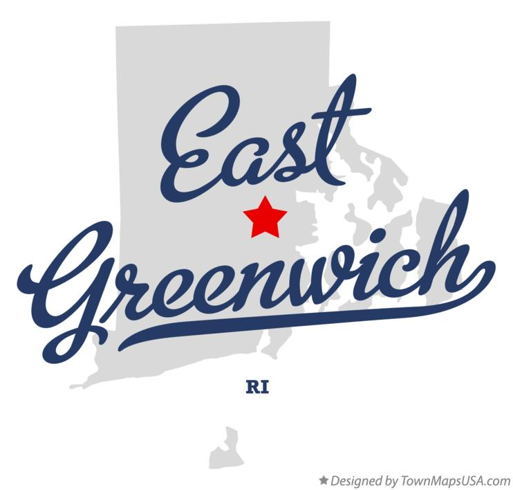 Map of East Greenwich Rhode Island RI
