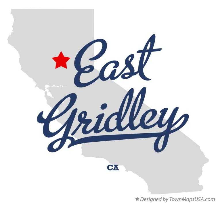Map of East Gridley California CA