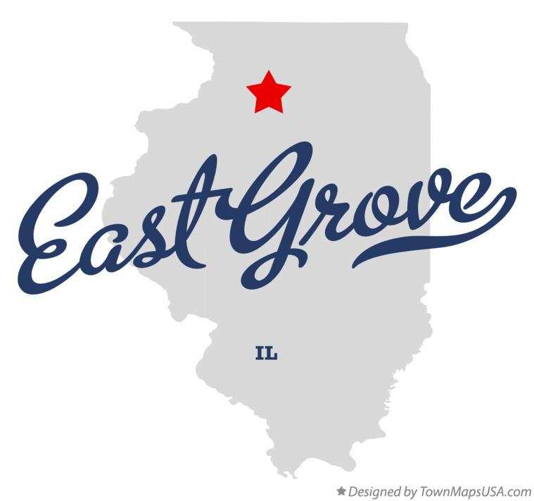 Map of East Grove Illinois IL
