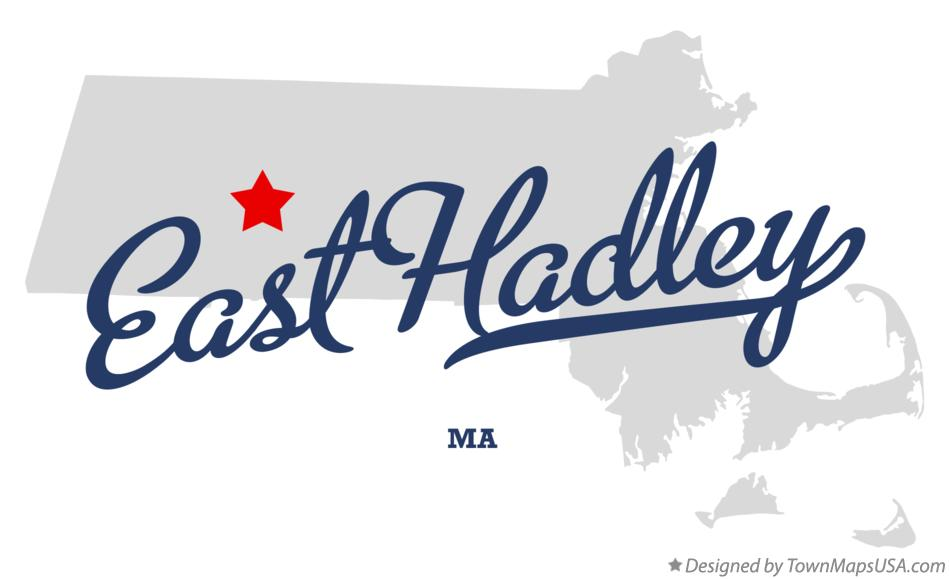 Map of East Hadley Massachusetts MA