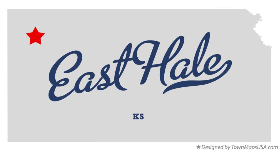 Map of East Hale Kansas KS