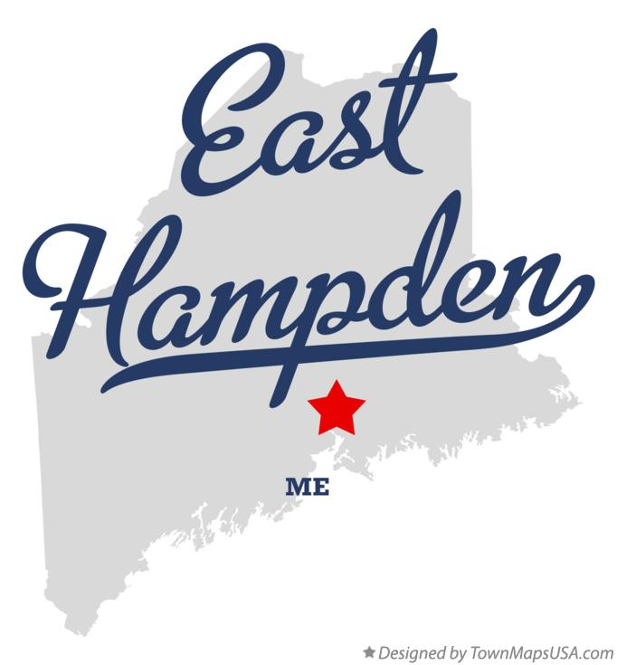 Map of East Hampden Maine ME