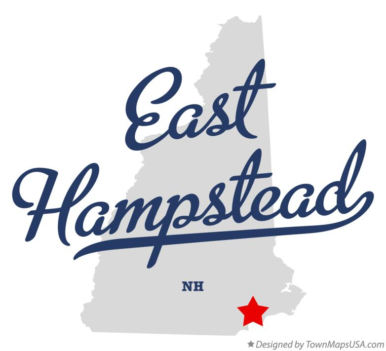 Map of East Hampstead New Hampshire NH