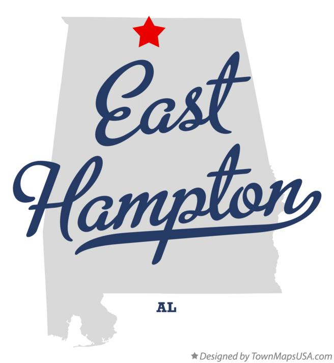 Map of East Hampton Alabama AL
