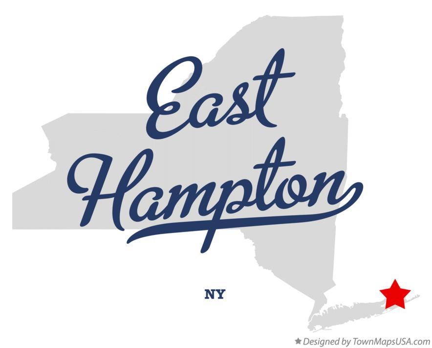 Map of East Hampton NY New York