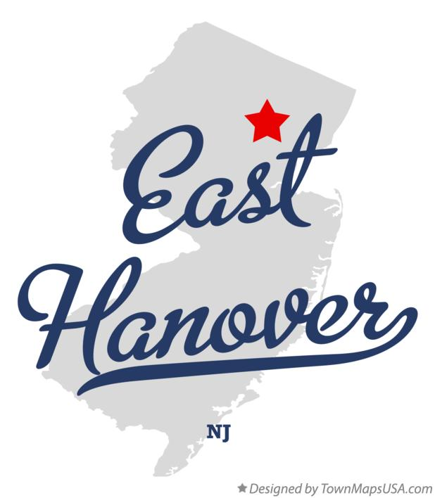 Map of East Hanover New Jersey NJ