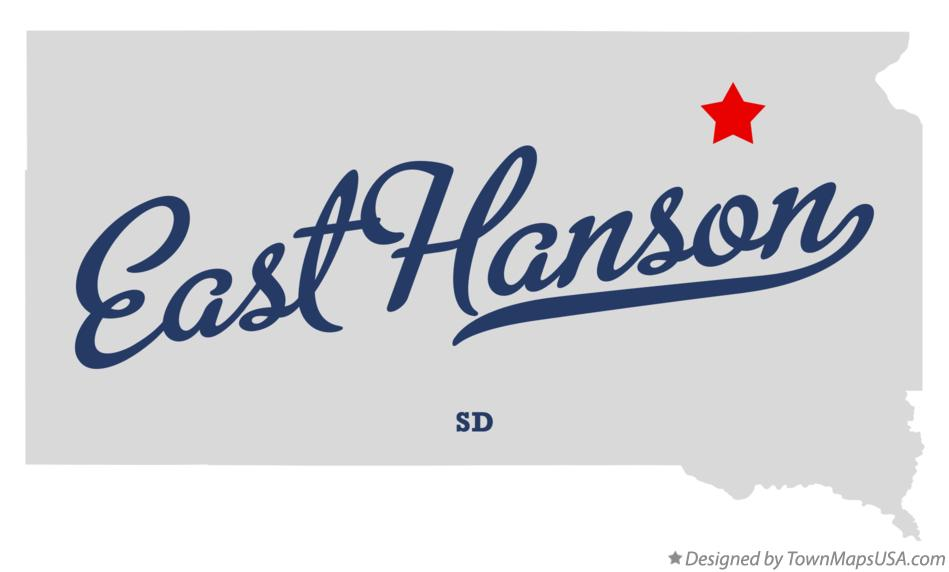 Map of East Hanson South Dakota SD