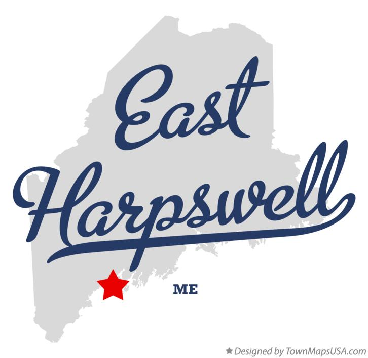 Map of East Harpswell Maine ME