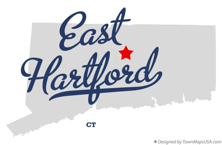 Map of East Hartford, CT, Connecticut