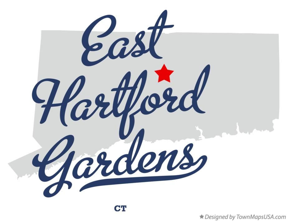 Map of East Hartford Gardens Connecticut CT