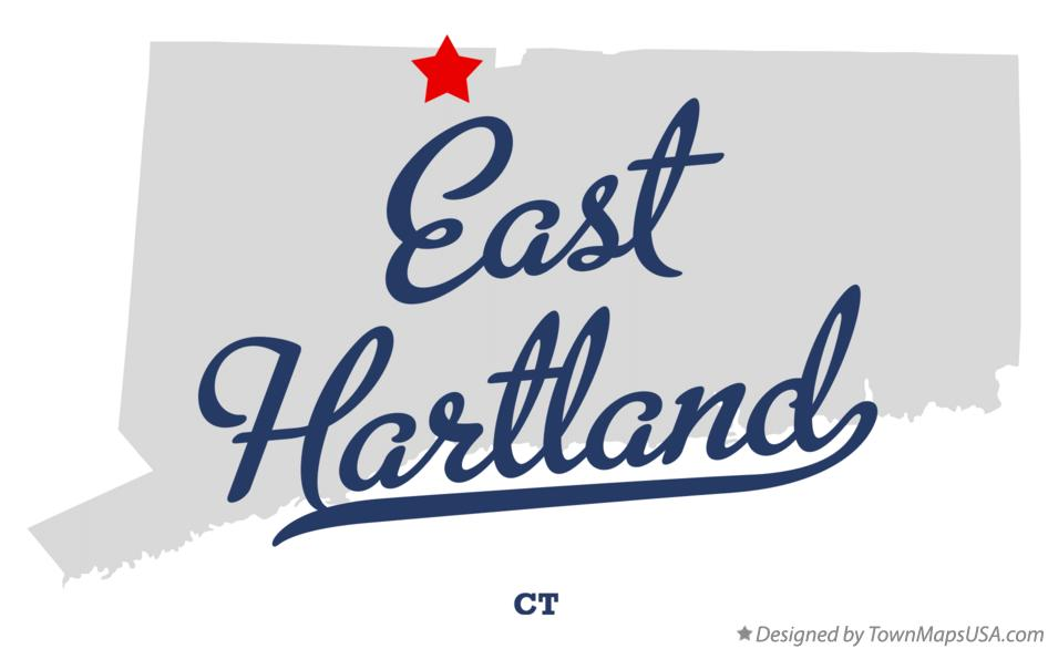 Map of East Hartland Connecticut CT