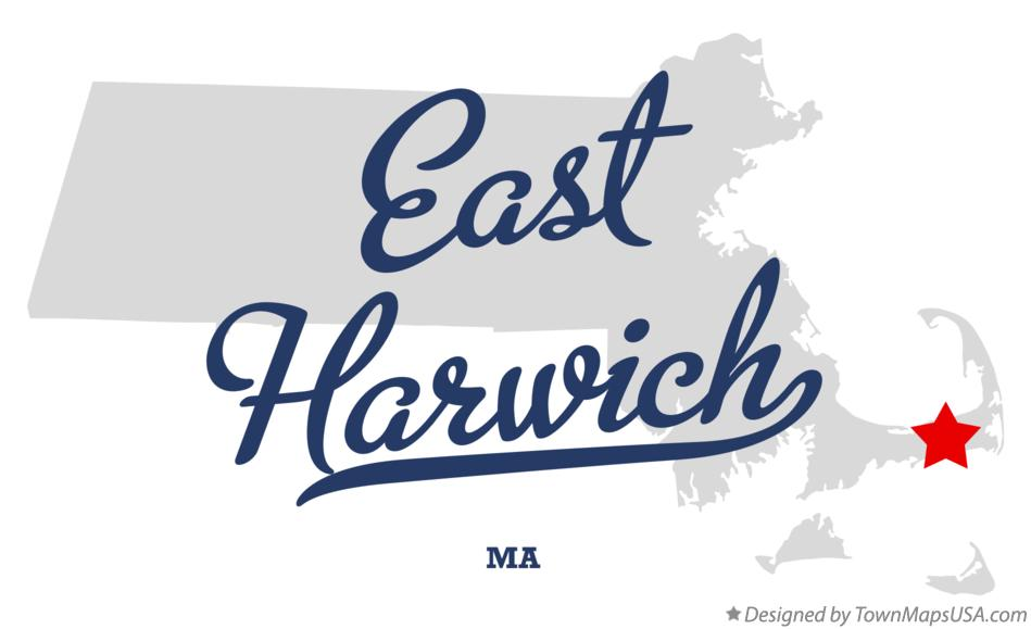 Map of East Harwich Massachusetts MA