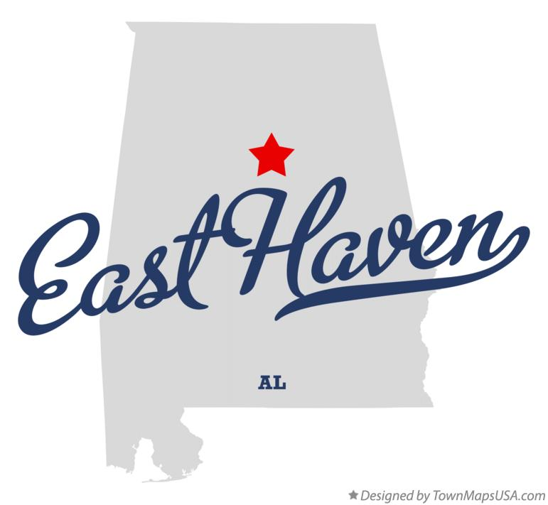 Map of East Haven Alabama AL