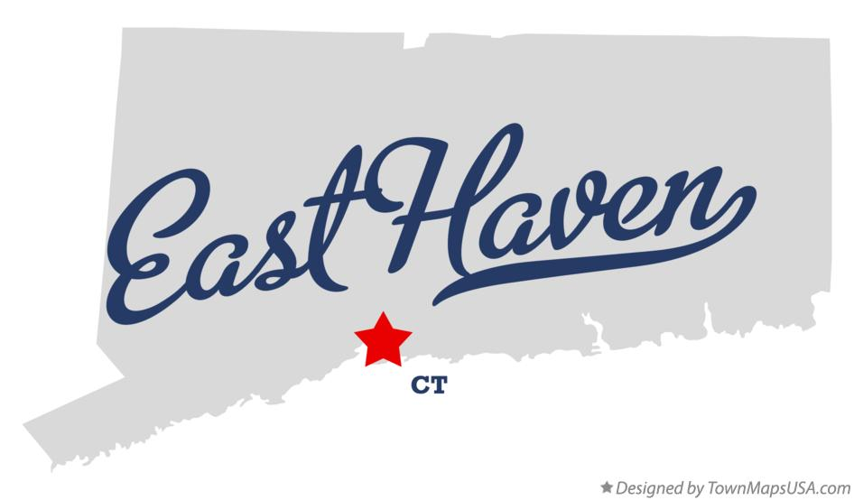 Map of East Haven Connecticut CT