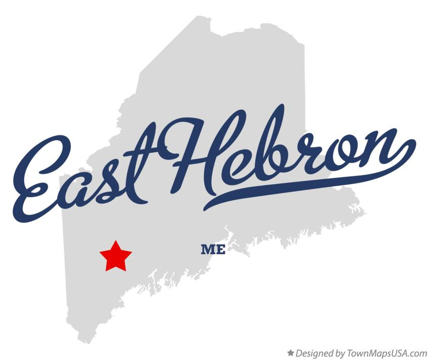 Map of East Hebron Maine ME